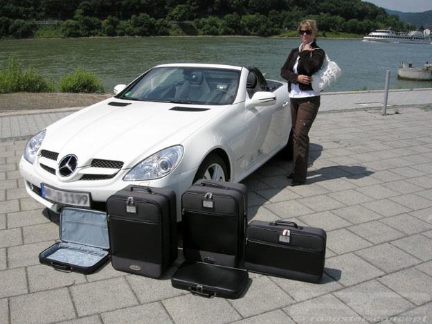 roadsterbag koffer set 5tlg f r mercedes slk r171 2004 2011. Black Bedroom Furniture Sets. Home Design Ideas