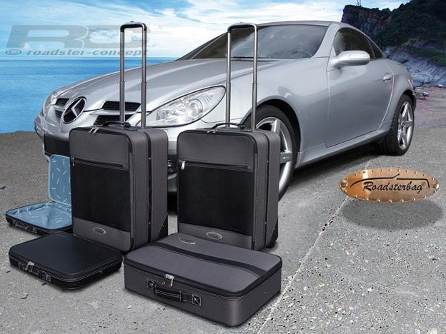 roadsterbag koffer set f r mercedes slk r171 2004 2011 farbe grau ebay. Black Bedroom Furniture Sets. Home Design Ideas