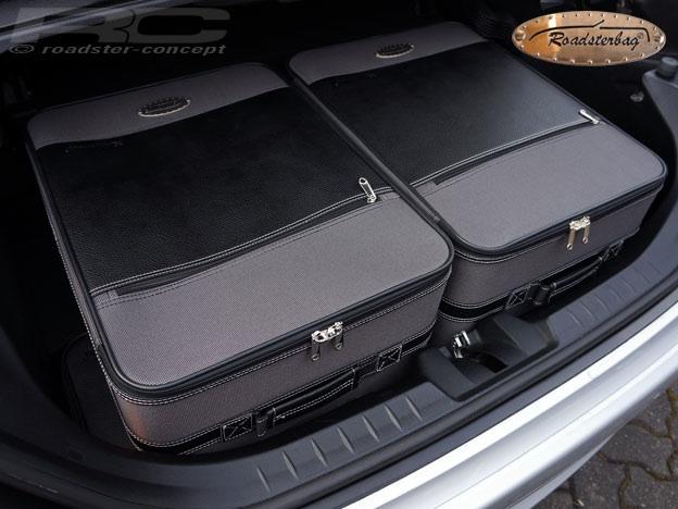 roadsterbag koffer set f r mercedes slk r171 2004 2011 farbe grau. Black Bedroom Furniture Sets. Home Design Ideas