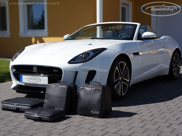 original roadsterbag koffer set f r jaguar f type cabrio. Black Bedroom Furniture Sets. Home Design Ideas