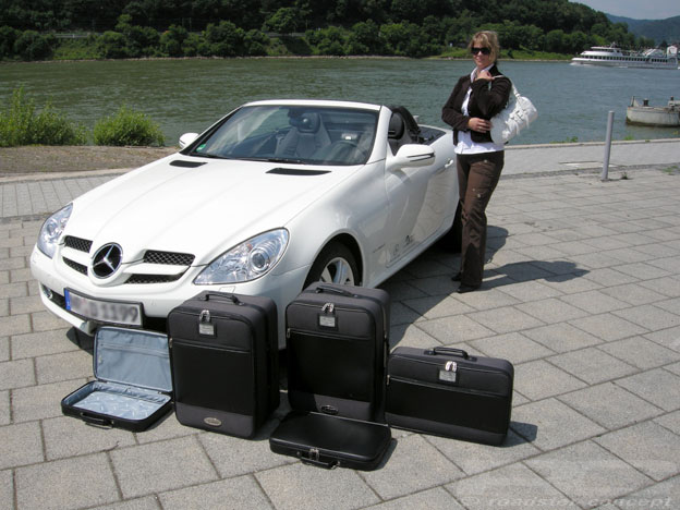 original roadsterbag koffer set f r mercedes slk r171. Black Bedroom Furniture Sets. Home Design Ideas